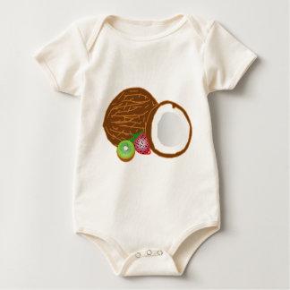 Body Para Bebê Cocos tropicais do quivi