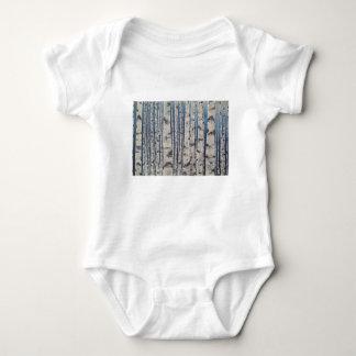 Body Para Bebê Código Morse das árvores de vidoeiro