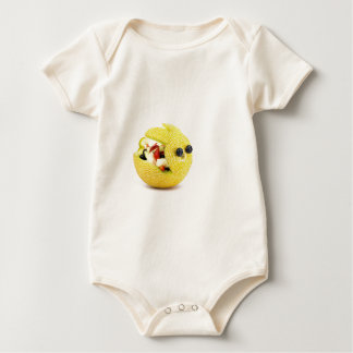 Body Para Bebê Coelhinho da Páscoa do melão enchido com a fruta