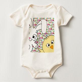 Body Para Bebê Coelhinho da Páscoa e pintinho