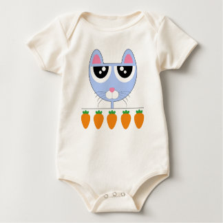 Body Para Bebê Coelho azul - bebê