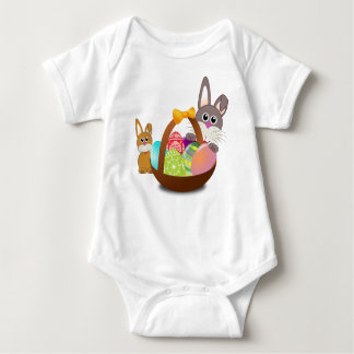 Body Para Bebê Coelho bonito para o dia do felz pascoa