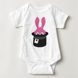 Body Para Bebê Coelho cor-de-rosa bonito para o felz pascoa