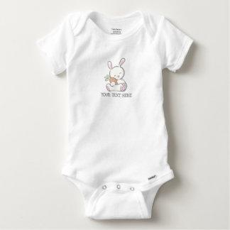 Body Para Bebê Coelho cor-de-rosa do bebê da primeira páscoa para