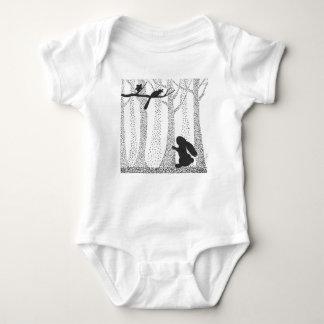 Body Para Bebê Coelho e pássaro