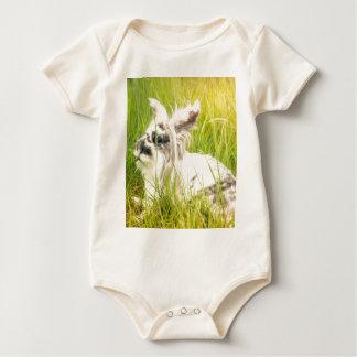 Body Para Bebê Coelho preto e branco