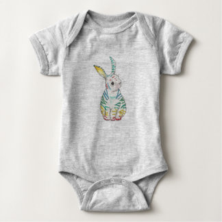 Body Para Bebê Coelho Stripy Babygrow