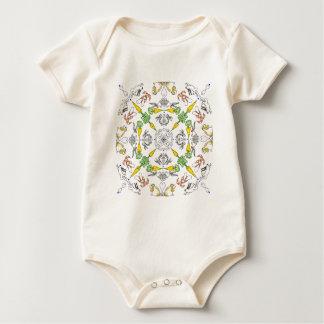 Body Para Bebê Coelhos do caleidoscópio