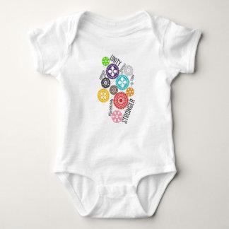 Body Para Bebê Cofre forte comigo Bodysuit do bebê das rodas