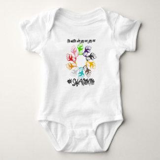 Body Para Bebê Cofre forte comigo Bodysuit do bebê dos punhos