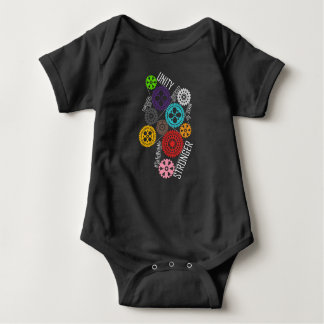Body Para Bebê Cofre forte comigo Bodysuit escuro do bebê das