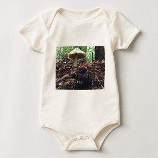 Body Para Bebê Cogumelo amarelo do chapéu