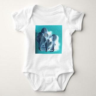 Body Para Bebê Cogumelos de ostra no azul