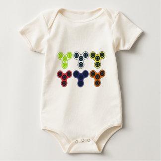 Body Para Bebê Coleção colorida do girador da inquietação