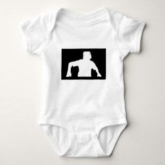 Body Para Bebê coleção preta da mercadoria do fundo DJNV