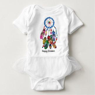 Body Para Bebê Coletor do sonho do arco-íris da aguarela &