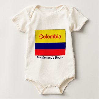 Body Para Bebê Colômbia as raizes da minha mamã