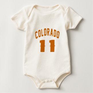 Body Para Bebê Colorado 11 designs do aniversário