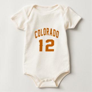 Body Para Bebê Colorado 12 designs do aniversário