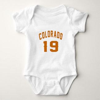 Body Para Bebê Colorado 19 designs do aniversário