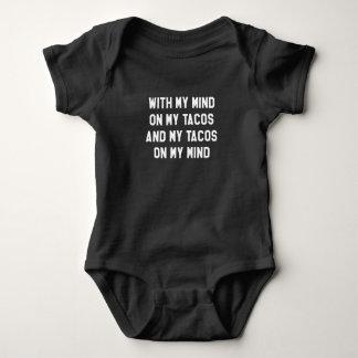 Body Para Bebê Com minha mente em meu Tacos e em meu Tacos em