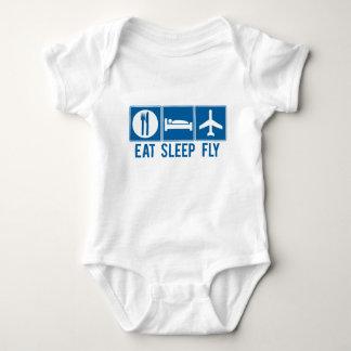 Body Para Bebê Coma a mosca do sono