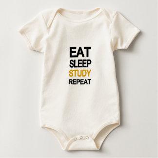 Body Para Bebê Coma a repetição do estudo do sono