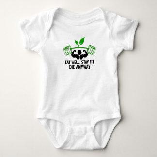 Body Para Bebê coma bem, ajustado da estada morrem de qualquer