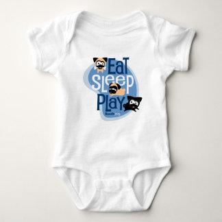 Body Para Bebê Coma, durma, jogue! Roupa (azul)