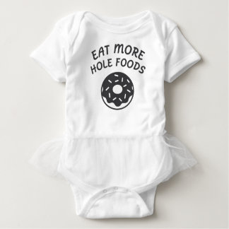 Body Para Bebê Coma mais alimentos do furo