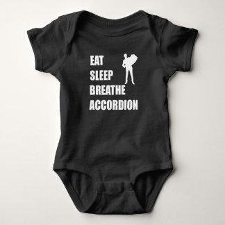 Body Para Bebê Coma o sono respiram o acordeão
