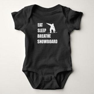 Body Para Bebê Coma o sono respiram o Snowboard