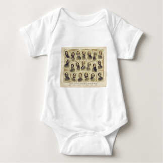 Body Para Bebê Comandantes confederados famosos da guerra civil