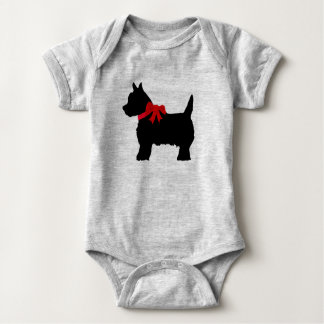 Body Para Bebê Combinação bonito do bebê do terrier