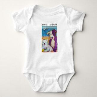 Body Para Bebê Combinação do bebê com os dois cachorrinhos