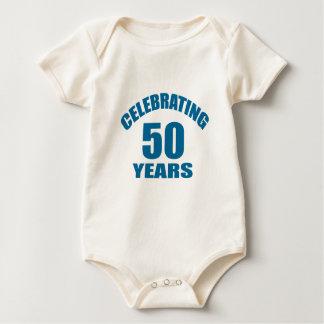 Body Para Bebê Comemorando 50 anos de design do aniversário