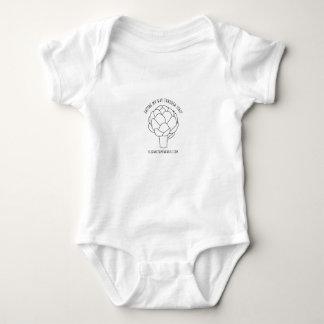 Body Para Bebê Comendo minha maneira através do t-shirt do bebê