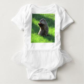 Body Para Bebê Comer de Groundhog