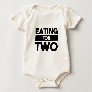 Body Para Bebê Comer para dois