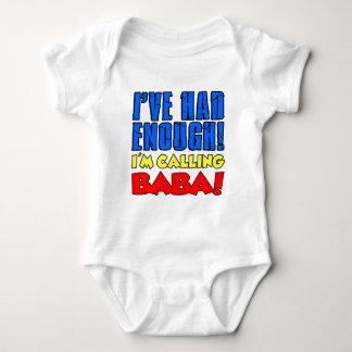 Body Para Bebê Comeu bastante babá de chamada