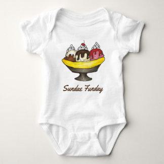 Body Para Bebê Comida da separação de banana do sorvete do SUNDAE