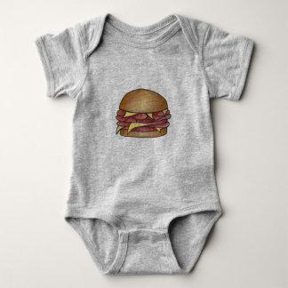 Body Para Bebê Comida de Foodie do sanduíche do almoço do
