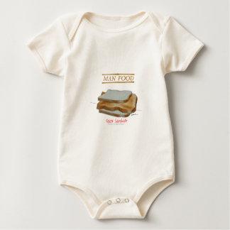 Body Para Bebê Comida do homem de Tony Fernandes - sanduíche do