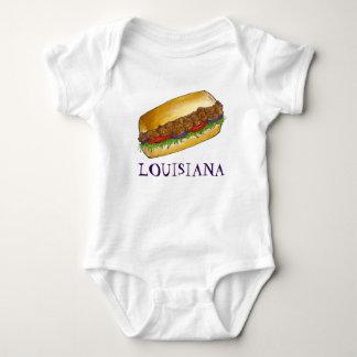 Body Para Bebê Comida do sanduíche de Po'Boy Nova Orleães do