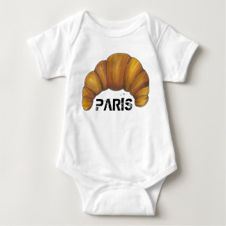 Body Para Bebê Comida francesa da padaria da pastelaria do
