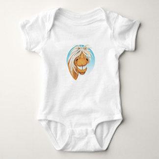 """Body Para Bebê Companheiro do cavalo de Equi-toons """"Chappie"""