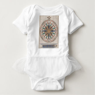 Body Para Bebê Compasso náutico histórico (1543)