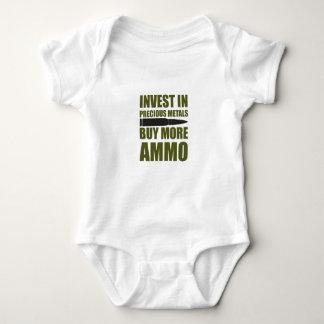 Body Para Bebê Compre mais munição, invista-a no metal