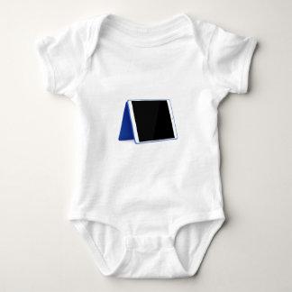 Body Para Bebê Computador da tabuleta no branco