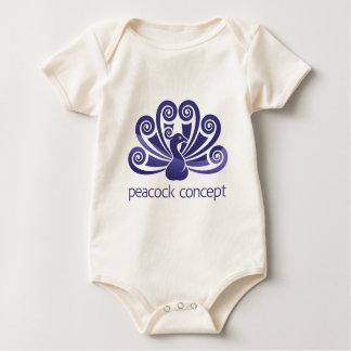 Body Para Bebê Conceito do ícone do Peafowl do pássaro do pavão